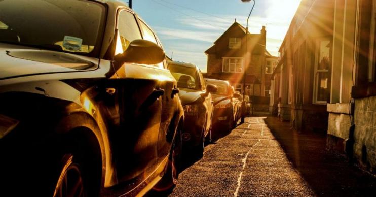 aparcar el coche al sol